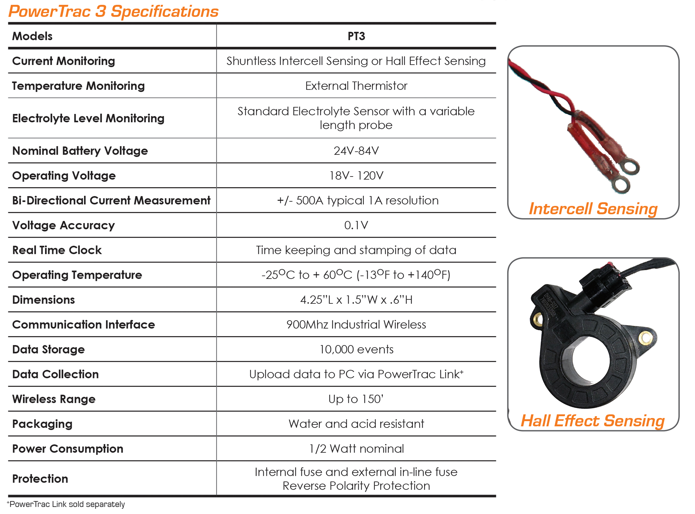 PowerTrac3 Specifications